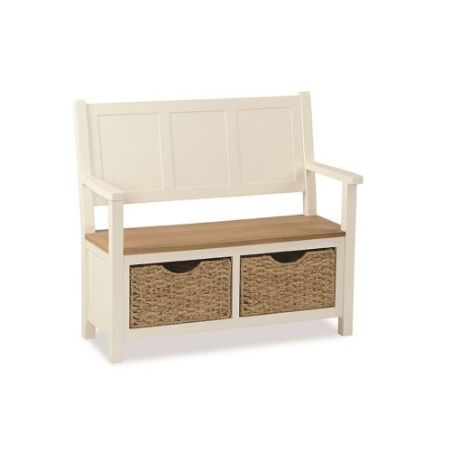Windsor MONK BENCH WITH BASKET